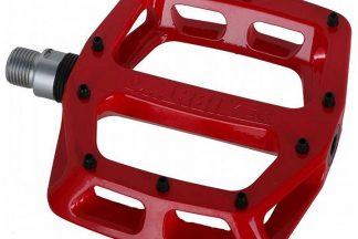 dmr v12 flat mountain bike pedals red