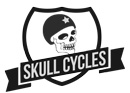 skull cycles logo uk bicycle accessories electric bikes