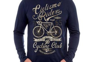 Cycology Cyclismo Long Sleeve Tee - Navy Blue/Other