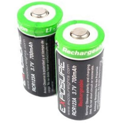 Exposure RCR123 Rechargeable Batteries - N/A
