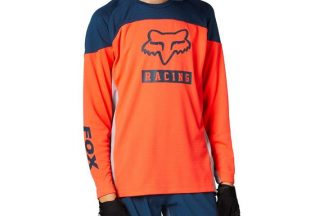 Fox Youth Defend Long Sleeve Jersey - Punch