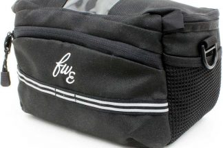 FWE Handle Bar Bag With Integrated Waterproof Cover - Black