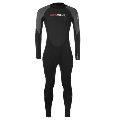 Gul Contour Full Wetsuit Mens - Black/Grey/Red