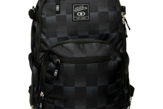 No Fear Check Backpack - Black/Charcoal