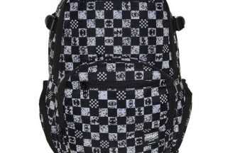 No Fear Check Backpack - Black/White