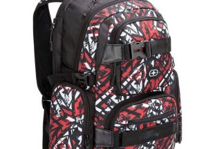No Fear Skate Backpack - Red/White