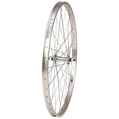 """Raleigh 26"""" Front Rim Brake Nutted Wheel - Silver"""