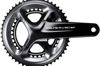 Shimano Dura Ace R9100 HollowTech II Compact Double Chainset - 50/34T - Black/Silver