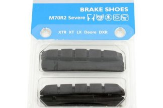 Shimano M70R2 Cartridge Brake Shoe Inserts with Fixing Pins - N/A