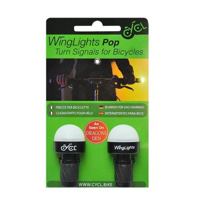 WingLights POP Direction Indicators for Bicycles & E-Scooters - Black
